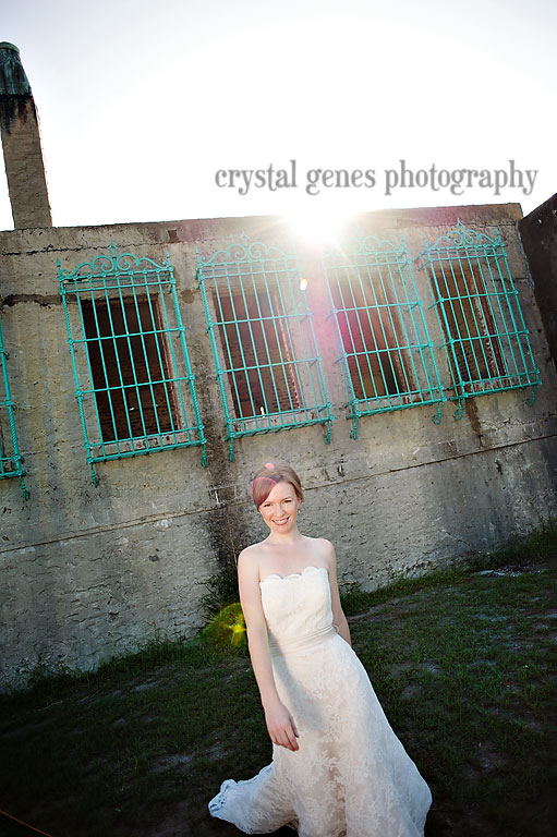bridal portraits around atalaya castle in sc