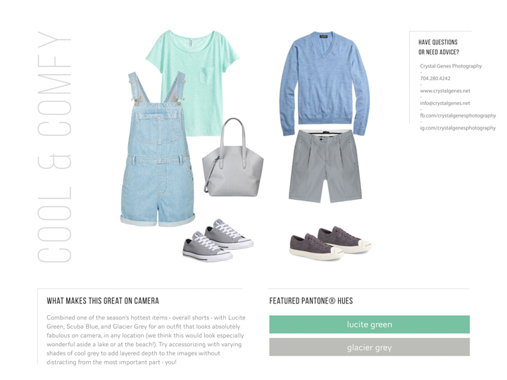 pantone lucite green and glacier grey overalls what to wear engagement 2015